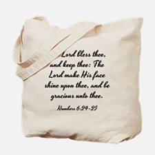 Numbers 6:24-25 - The Lord bless the, and Tote Bag