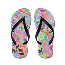 Hearts and Ribbons Flip Flops