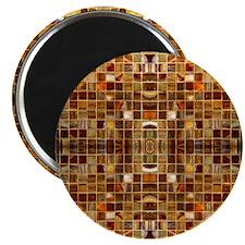 Gold Mosaic Tiles Magnet