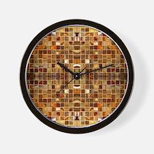 Gold Mosaic Tiles Wall Clock