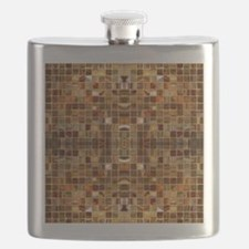 Gold Mosaic Tiles Flask