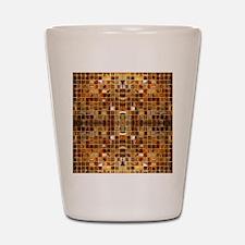 Gold Mosaic Tiles Shot Glass