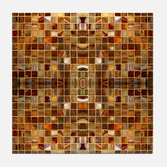 Gold Mosaic Tiles Tile Coaster