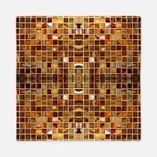 Gold Mosaic Tiles Queen Duvet