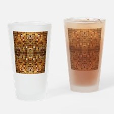 Gold Mosaic Tiles Drinking Glass