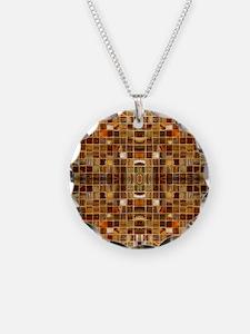 Gold Mosaic Tiles Necklace