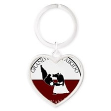 Grand River Aikido - Red and White  Heart Keychain
