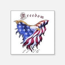 "American Freedom, 1776 Square Sticker 3"" x 3"""