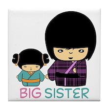 Kokeshi Big Sister Tile Coaster