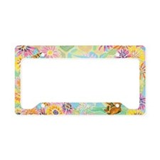 Bumble Bear by M. Nicole van  License Plate Holder