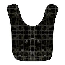 Black Mosaic Tiles Bib