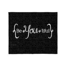 iCandy_beYOUtiful_rgb Throw Blanket