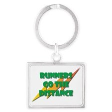 Runners Go the Distance Landscape Keychain