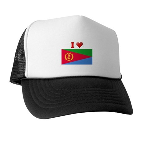 I love Eritrea Flag Trucker Hat