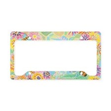 Bumble Bee Paradise License Plate Holder