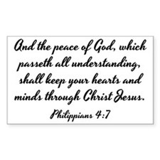 Philippians 4:7 - And the Peac Decal