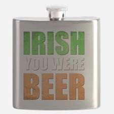 Irish You Were Beer Flask