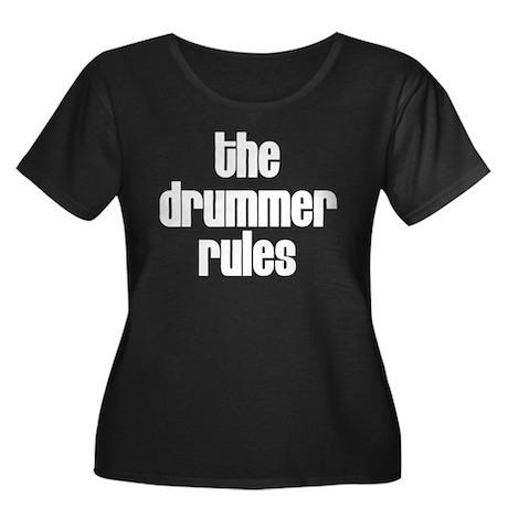 The Drummer Rules Women's Plus Size Scoop Neck Dar