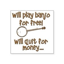 "Banjo Square Sticker 3"" x 3"""