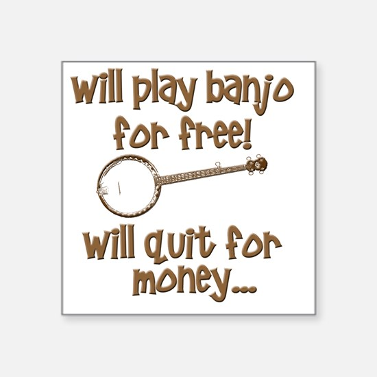 "Banjo Square Sticker 3"" x 3"""