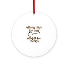 Banjo Round Ornament