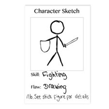 Character Sketch Postcards (Package of 8)