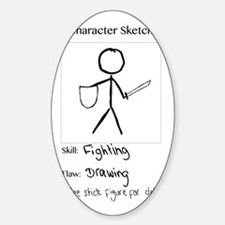 Character Sketch Decal