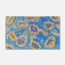 Dance of the Sunflowers Car Magnet 20 x 12