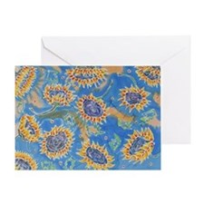 Dance of the Sunflowers Greeting Card