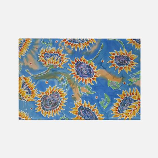 Dance of the Sunflowers Rectangle Magnet