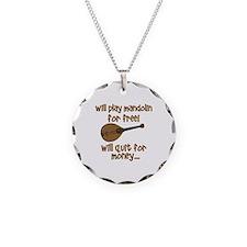 funny mandolin Necklace Circle Charm