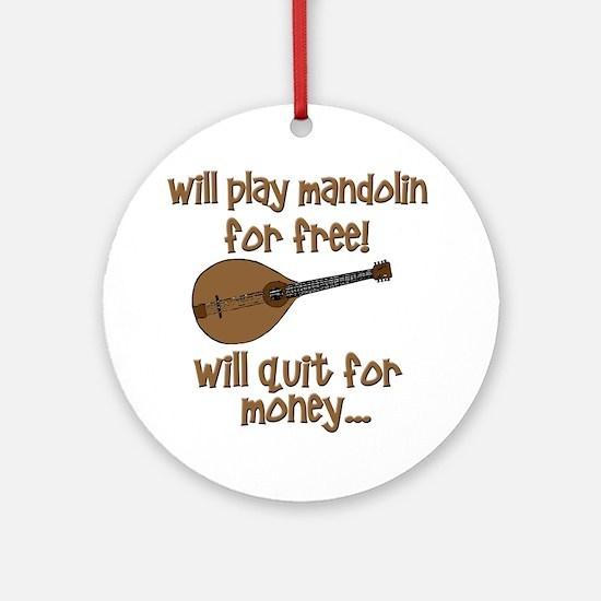 funny mandolin Round Ornament