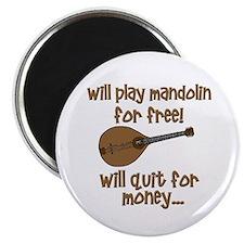 funny mandolin Magnet