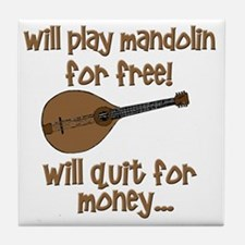 funny mandolin Tile Coaster