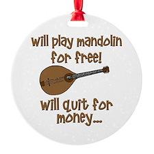 funny mandolin Ornament