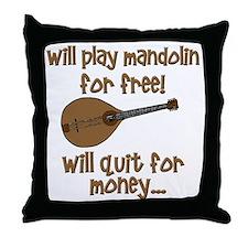 funny mandolin Throw Pillow