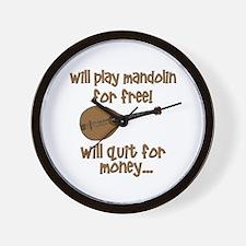 funny mandolin Wall Clock