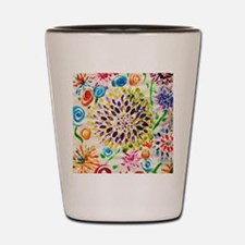 Picasso Flower Paper Shot Glass