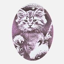 Cat Fish or fishing cat Oval Ornament