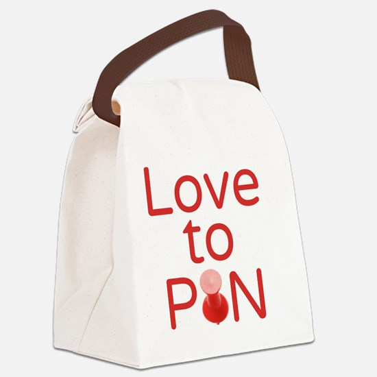 Love to Pin Canvas Lunch Bag