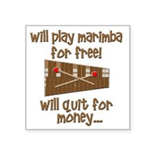 "funny marimba Square Sticker 3"" x 3"""