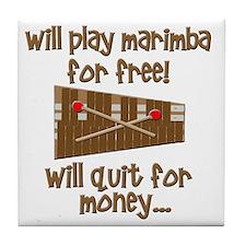 funny marimba Tile Coaster