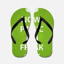 Now Panic and Freak Out Poster (Green) Flip Flops