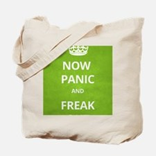 Now Panic and Freak Out Poster (Green) Tote Bag