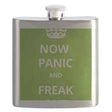 Now Panic and Freak Out Poster (Green) Flask