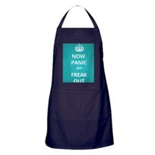 Now Panic and Freak Out Poster (Cyan) Apron (dark)