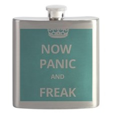 Now Panic and Freak Out Poster (Cyan) Flask