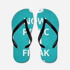 Now Panic and Freak Out Poster (Cyan) Flip Flops