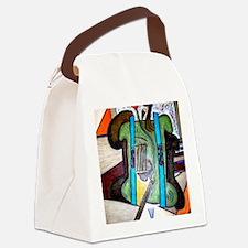 Picasso Green Cello Plant in a Po Canvas Lunch Bag