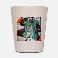 Picasso Green Cello Plant in a Pot Art Shot Glass